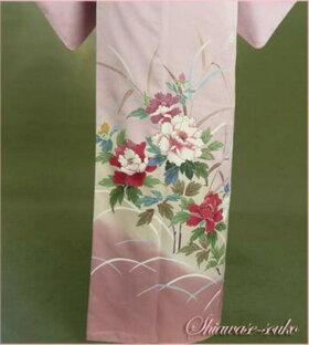 色留袖レンタルフルセット「藤色牡丹すすき」ht014