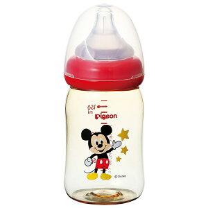 【プラスチック製 160ml】 ピジョン Pigeon 母乳実感 哺乳びん ミッキー柄 ディズニー ミッキーマウス 0ヵ月から おっぱい育児を確実にサポートする哺乳びん