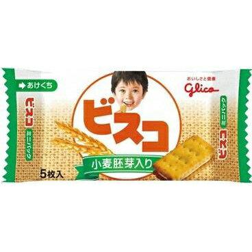 江崎グリコ ビスコミニパック小麦胚芽入り 5枚×20入