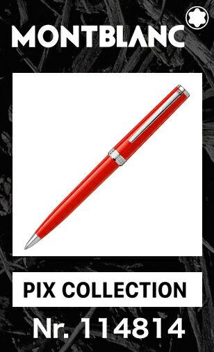 名入れ モンブラン PIX コーラルレッド 114814 ボールペン【2年間★メーカー国際保証付】正規ギフト包装可 MONTBLANC PIX Collection coral Red ballpoint pen(クルーズコレクション Cruise 111825)正規並行輸入品 赤 オレンジ