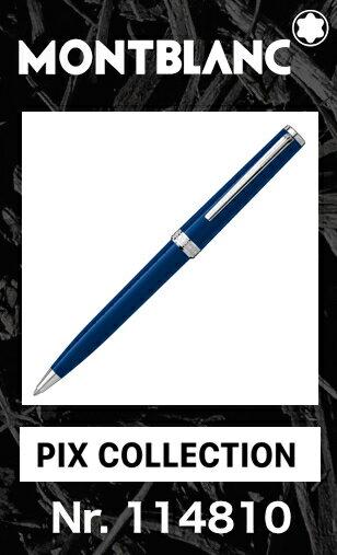 【ポイント2倍!!】名入れ モンブラン PIX ブルー 114810 ボールペン【2年間★メーカー国際保証付】正規ギフト包装可 MONTBLANC PIX Collection Blue ballpoint pen(クルーズコレクション Cruise 113072)正規並行輸入品