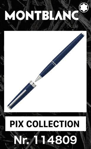 モンブラン PIX ローラーボール ブルー 114809【2年間★メーカー国際保証付】名入れ 正規ギフト包装可 MONTBLANC PIX Collection Blue Rollerball Pen ネイビー 水性 ペン(クルーズコレクション Cruise)正規並行輸入品 高級文具