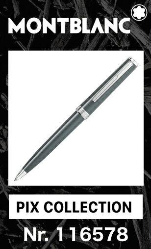 2017年新色!! モンブラン PIX ボールペン グレー 116578【2年間★メーカー国際保証付】名入れ 正規ギフト包装可 MONTBLANC PIX Collection Gray ballpoint pen ツイストメカニズム 正規並行輸入品 高級文具