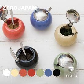 丸型コンテナS スプーン付き 薬味入れ BKK-04ZEROJAPAN ゼロジャパン 陶器 美濃焼 日本製