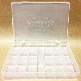 【韓国製】刺繍糸収納プラスチックケース 19マス 収納 整理 便利グッズ 糸 クロスステッチ 刺しゅう