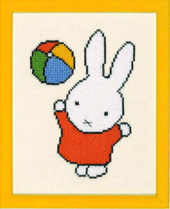 MIFFY クロスステッチ刺しゅうキット キャラクター【ミッフィーと紙風船】 Dick Bruna ディック・ブルーナ Pako 輸入 初心者 211.603