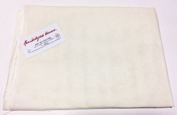 クロスステッチ刺しゅう布 フレメ 10B 150x100cm リネン Haandarbejdets Fremme クリームホワイト 麻 北欧 カット布 刺繍 50-1150