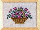 フレメ クロスステッチ 刺繍キット 【カゴの中のバラ 】 小さい作品 デンマーク 輸入ししゅうキット 30-5597