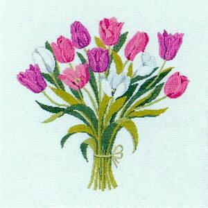 フレメ クロスステッチ刺繍キット 【チューリップ】 輸入 デンマーク 北欧 上級者 30-6190