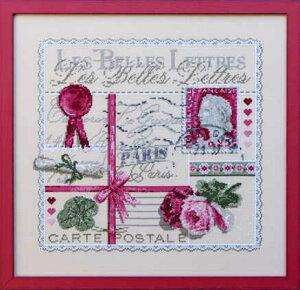 """Madame La Fee(マダムラフェ) クロスステッチ刺しゅうチャート 図案 【""""Les Belles Lettres""""-113】 フランス 輸入 上級者"""