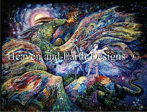クロスステッチ刺繍図案 Heaven And Earth Designs 輸入 HAED 上級者 Josephine Wall 竜の踊り子 Dragon Dancer 全面刺し