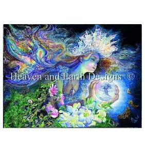 Heaven And Earth Designs クロスステッチ刺繍図案 HAED 輸入 上級者 Josephine Wall 光の姫 Princess of Light 全面刺し