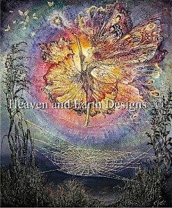 Heaven And Earth Designs クロスステッチ刺繍図案 HAED 輸入 上級者 Josephine Wall 絹のドレスの呪文 Silken Spells 全面刺し