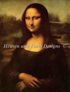 レオナルド・ダ・ヴィンチ Leonardo da Vinci 名画 【モナリザ-Mona Lisa-】 ルーヴル美術館 Heaven And Earth Designs クロスステッチ刺繍図案 HAED 輸入 上級者 全面刺し