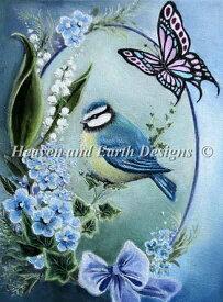 クロスステッチ刺しゅうチャート 萌えいづる春 Heaven And Earth Designs 輸入 Gabriella Szabo 上級者 Mini Spring Has Sprung