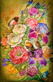 プチポワンししゅうチャート 萌えいづる春 Heaven And Earth Designs 全面刺し Tatiana Fedrova 輸入 PTP Spring Has Sprung