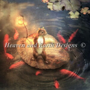 Heaven And Earth Designs HAED クロスステッチ刺繍 図案 Aimee Stewart 輸入 栗鼠アルペジロ Arpeggio the Squirrel 全面刺し 上級者