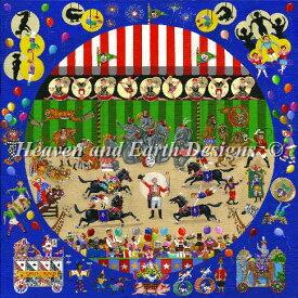 HAED Heaven And Earth Designs クロスステッチ刺繍 図案 輸入 上級者 Bill Dodge サーカス Circus 全面刺し