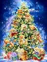 HAED クロスステッチ刺繍 図案 Heaven And Earth Designs 輸入 Dona Gelsinger テディベア・クリスマスツリー SS Tedd…
