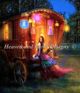 Heaven And Earth Designs HAED クロスステッチ刺繍 図案 Aimee Stewart 輸入 QS Wanderlust Two 全面刺し 上級者