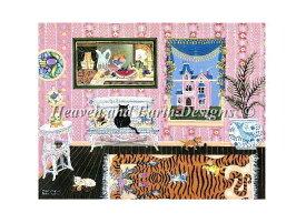 HAED クロスステッチ刺繍 図案 Heaven And Earth Designs 輸入 上級者 Bill Dodge 猫の家族 The Cat Family 全面刺し