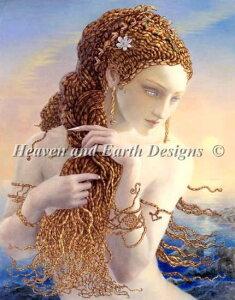キヌコヤマベ・クラフト クロスステッチ刺繍 図案 HAED Heaven And Earth Designs 輸入 上級者 メデューサ Medusa KC 全面刺し