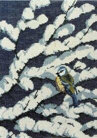 【DM便対応】フレメ Blåmejse i sne 雪の中のアオガラ 12B クロスステッチ Haandarbejdets Fremme キット デンマーク 北欧 刺しゅう ギルド CB 30-4520