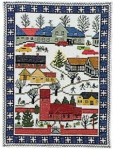 フレメ クロスステッチ刺繍キット 【クリスマスの町】 デンマーク 北欧 輸入 上級者 30-4597