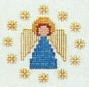 フレメ クロスステッチ 刺繍キット 【クリスマスの天使 】 小さい作品 デンマーク 輸入ししゅうキット