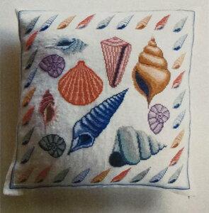フレメ クロスステッチ刺繍キット 貝のクッション デンマーク 上級者 輸入 20-6988