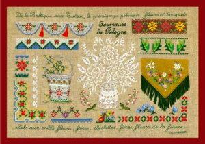 クロスステッチ プチポワン刺繍キット 輸入 ル・ボヌール・デ・ダム Le Bonheur des Dames 刺しゅう Souvenirs de Pologne ポーランドの思い出 フランス 上級者 1131