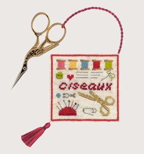クロスステッチ刺繍キット 輸入 ル・ボヌール・デ・ダム Le Bonheur des Dames ハサミケースホルダー Porte ciseaux Couture 刺しゅう フランス 初心者 3363