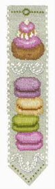 クロスステッチ刺繍キット 輸入 ル・ボヌール・デ・ダム Le Bonheur des Dames 刺しゅう Marque page Macarons マカロンのブックマーカー フランス 初心者 4569