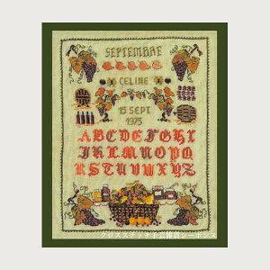 プチポワン刺繍キット ルボヌールデダム Le Bonheur des Dames 刺しゅう Miniature September ミニチュア9月 フランス 上級者 3608