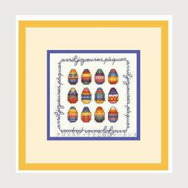 クロスステッチ刺繍キット ルボヌールデダム Le Bonheur des Dames 刺しゅう April happy easter 4月のイースター フランス 初心者 2229