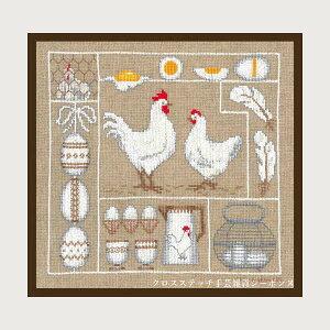 クロスステッチ刺繍キット 輸入 ルボヌールデダム Le Bonheur des Dames 刺しゅう Chickens and eggs 鶏と卵 フランス 上級者 1055