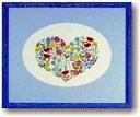 BAHMANN クロスステッチ刺繍キット 【花とハート】 バーマン Nadel Faden Fantasie ドイツ 輸入 上級者 30-9000