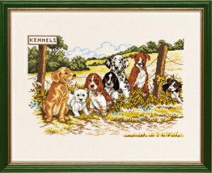 EVA ROSENSTAND 犬小屋 Kennels クロスステッチ キット デンマーク 北欧 刺しゅう 14-224 【DM便対応】