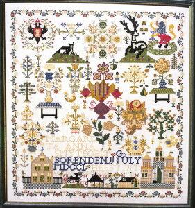 ペルミン クロスステッチ刺繍キット ゼーラント1763 Permin of Copenhagen デンマーク 北欧 上級者 輸入 39-0412
