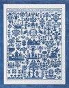 ペルミン(PERMIN) 刺繍キット 青いサンプラー ペルミン デンマーク 輸入 上級者 39-9441