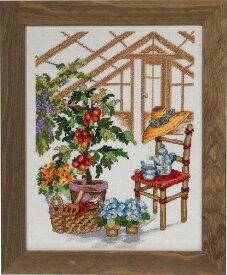 PERMIN グリーンハウス Greenhouse クロスステッチ 刺繍 キット デンマーク ペルミン 90-3106 【DM便対応】