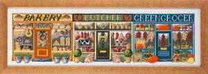 ペルミン(Permin)クロスステッチ刺繍キット 商店街 Butiksgade 輸入 デンマーク 北欧 ペルミン 上級者 70-0425