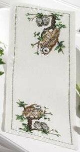 ペルミン Ugle familien 梟の家族 クロスステッチ 刺繍 キット デンマーク 63-4749 初心者 中級者【DM便対応】