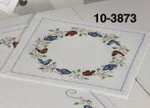 クロスステッチ刺繍キット ペルミン Sommerfugle 蝶のドイリー Permin of Copenhagen 北欧 デンマーク 初心者 中級者 10-3873 【DM便対応】