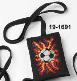 ペルミン クロスステッチ刺繍キット Fodbold スマホケース サッカー Permin of Copenhagen 北欧 デンマーク 中級者 上級者 19-1691