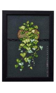 ペルミン (Permin) クロスステッチ刺繍キット フィロデンドロン Heart Leaf Philo. 輸入 北欧 デンマーク 上級者 92-8417
