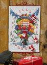 PERMIN 自転車のサンタクロース Santa Claus on a bike ペルミン クロスステッチ キット デンマーク 北欧 刺しゅう 34…