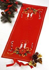 PERMIN クリスマススター・レッド Christmas star in red クロスステッチ 刺繍 キット デンマーク 北欧 刺しゅう ペルミン 68-1210 【DM便対応】