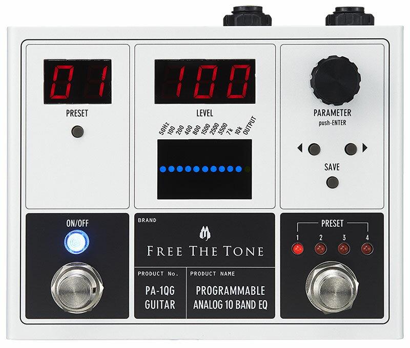 Free The Tone 《フリーザトーン》 PA-1QG [PROGRAMMABLE ANALOG 10 BAND EQ] 【即納可能】