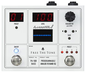 Free The Tone 《フリーザトーン》PA-1QB [PROGRAMMABLE ANALOG 10 BAND EQ/ベース用] 【即納可能】